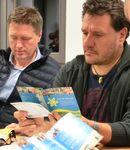 Franz Brütting vom Bayerischen Bauernverband, Wolfgang Kremer von der KLJB Oberfranken und Christoph Müller von der ELJ Oberfranken Oberpfalz